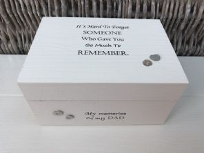 Personalised In Memory Of Box Loved One ~ DAD ~ FATHER any Name Bereavement Loss - 253571916340